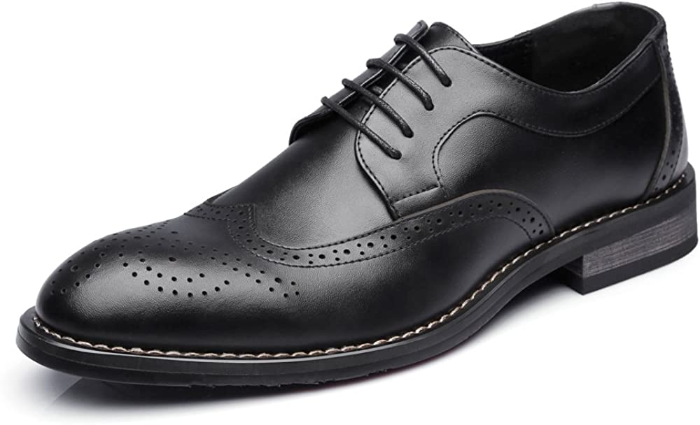 Shufang-shoes Mens Low Top Business Shoes Matte Hollow Carving Genuine Leather Lace Up Breathable Lined Oxfords