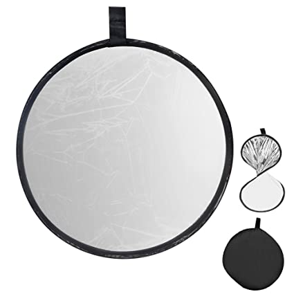 UTEBIT Portable Photography Reflector 60cm / 24inch White and Sliver 2 in 1 Collapsible Sunlight Reflectors  sc 1 st  Amazon.in & Buy UTEBIT Portable Photography Reflector 60cm / 24inch White and ...