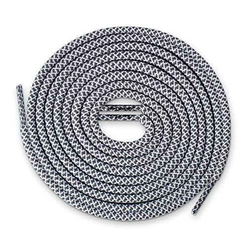 Golf Lace - Lace Kings Round Shoelaces (Grey/White - 36in)