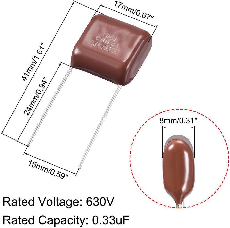 Sourcingmap CBB21 condensadores de pel/ícula de polipropileno metalizado para circuito el/éctrico l/ámpara de ahorro de energ/ía grupo 10