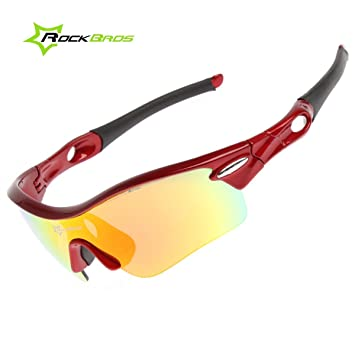 aaf3f1e3022c ROCKBROS Outdoor Sunglasses Pro Polarised Sunglasses Eyeware Goggles 100%  UVA UVB Eye Protection Glasses 5 ...