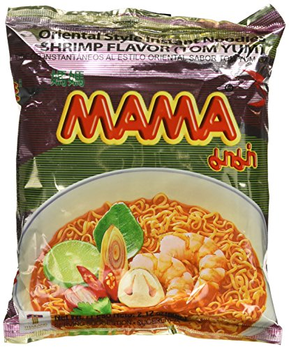 30 2.12OZ Packages Mama Tom Yum Flavour Instant Noodles (Shrimp Flavored) ()