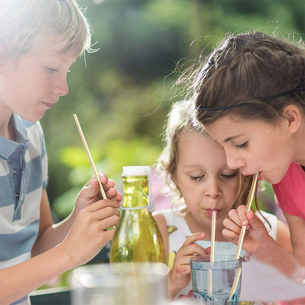 Bodas,Fiestas de Celebraci/ón Amycute 200 pcs Pajas para Beber para Fiestas de Cumplea/ños Paja desechable Reciclables Biodegradables para c/ócteles Bebidas fr/ías y jugos