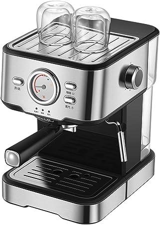 Cafetera Espresso máquina semiautomática del hogar visualización completa de control de temperatura de la espuma de la leche Filtro italiana de 20 segundos y 20 bares de calor: Amazon.es: Hogar