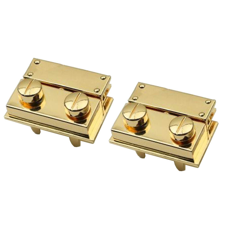 Rzdeal 2set di chiusura in metallo con girello Twist lock DIY borsetta borsa Hardware Gold