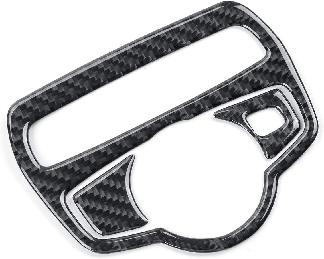 Viviance Carbon Fiber Headlight Switch Cover Trim Aufkleber Für Merce Des C Klasse C180 C200 C200 W205 Glc260 Schwarz Auto