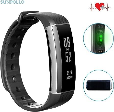 SUNPOLLO Fitness Tracker Zeband Plus IP67 Pulsera de Actividad ...
