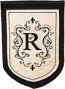 Regal Monogram Garden Flag - R