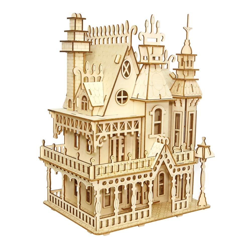 【新品本物】 ZLD 手作りギフト ZLD Toy 3Dパズル ドリームビラモデル B07KW3M496 木製クラフト 木製パズル 手作りギフト 装飾 ミニマリストスタイル B07KW3M496, FrouFrou:db1b1874 --- a0267596.xsph.ru