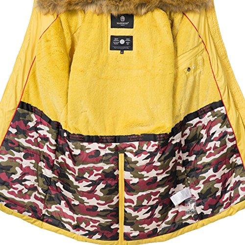 Xs Amarillo De Guateado Abrigo Extralargo xxl Knuddelmaus 9 Con Para Colores Pelo Invierno Marikoo Sintético Capucha Mujer xagfCwqx6
