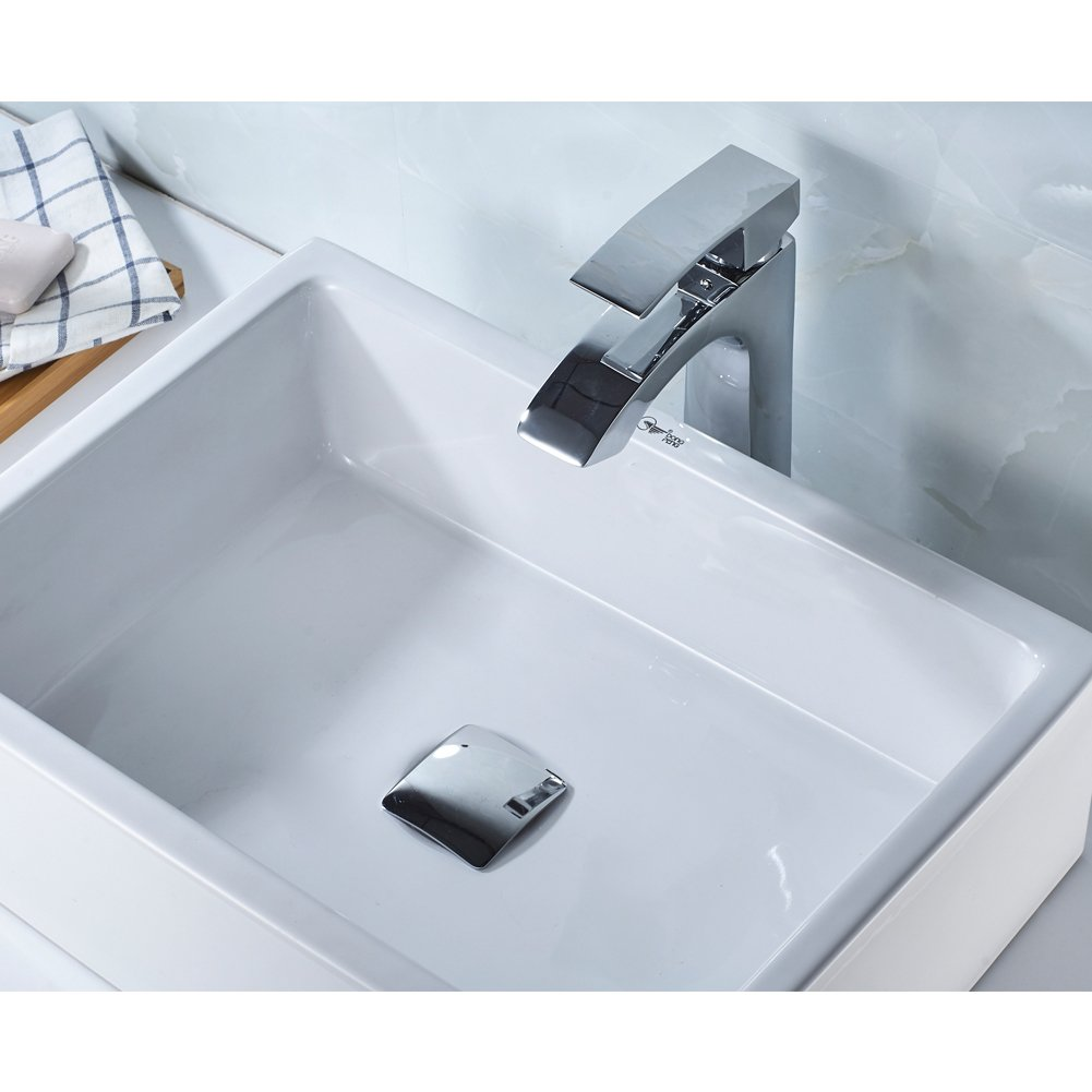 MissMin Square pop up drain without overflow chrome for risen ...