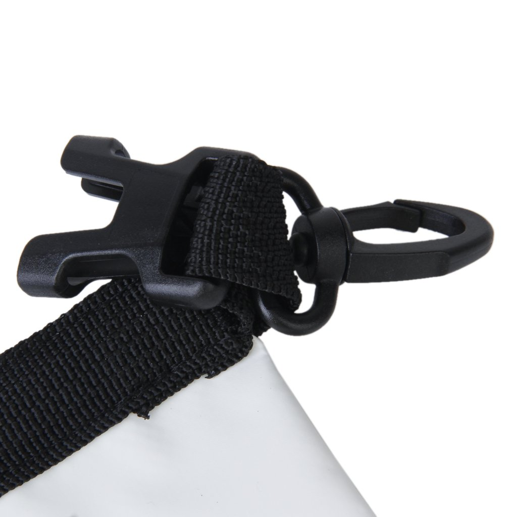 White, 2L Waterproof Dry Bag Pouch for Camping Boating Kayaking Fishing Rafting Canoeing