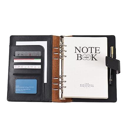 Aibecy Cuaderno de espiral cartón negocial (A5)