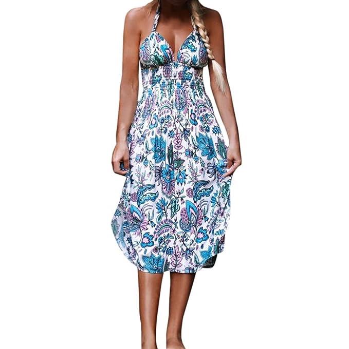 Hot! Damen Kleid Yesmile Frauen Sommer Bohemian Style Vintage Boho ...