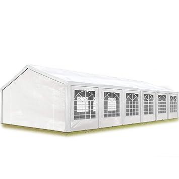 Carpa impermeable para eventos 6x12m en color blanco con protección UV.