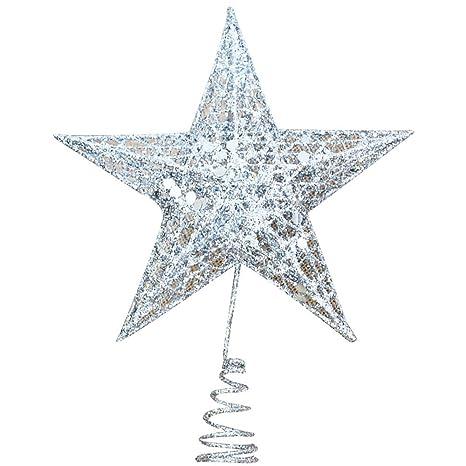 Stella Di Natale Tridimensionale.Fangkuai Xmas Cavita Ferro 3d Stella Puntale Albero Di Natale
