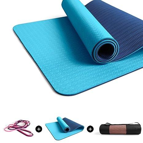 YOGANHJAT Colchoneta de Yoga, 8mm Resistente al Sudor ...