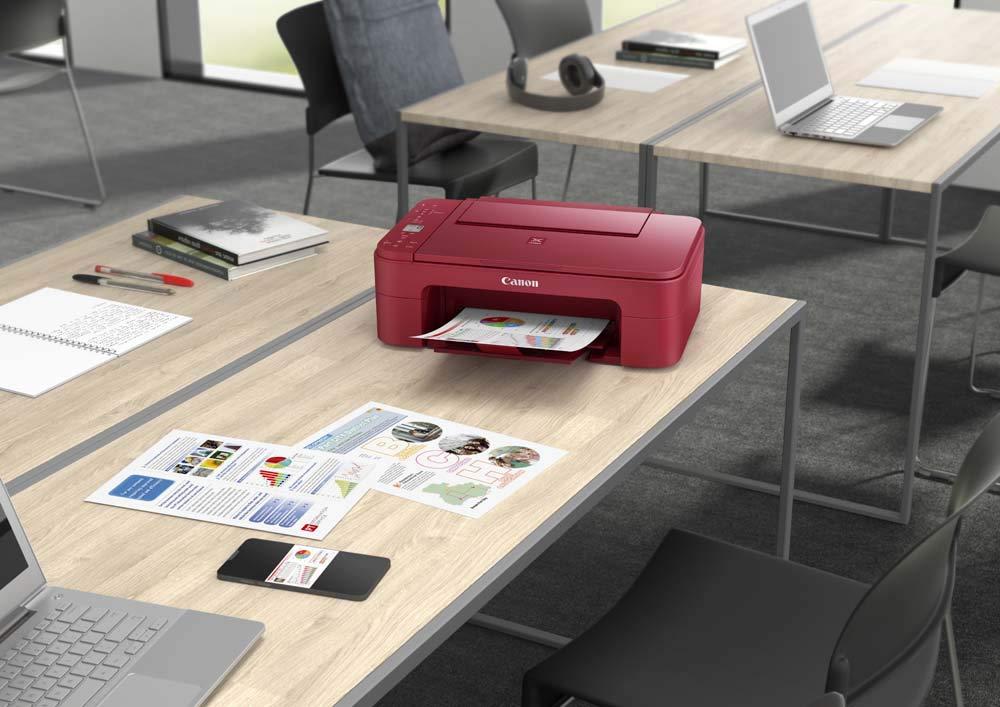 Impresora Multifuncional Canon PIXMA TS3352 Roja Wifi de inyección de tinta