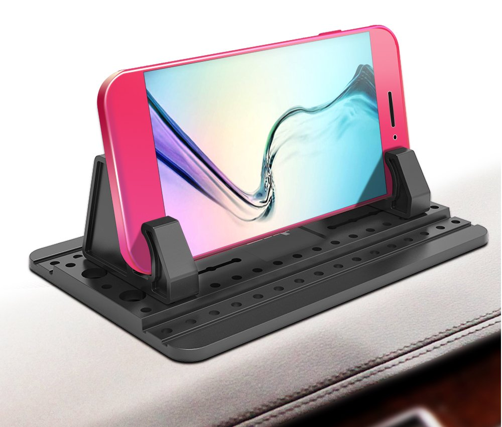 IPOW Car Pad with Sticky Gel Points 3rd Generation Universal Silicon Mat for Various Dashboards,Phone Mount Holder Compatible with iPhone X 8 8P 7 7P 6S 6 5S,Galaxy Note8 S9 S8 S7 S6 S5