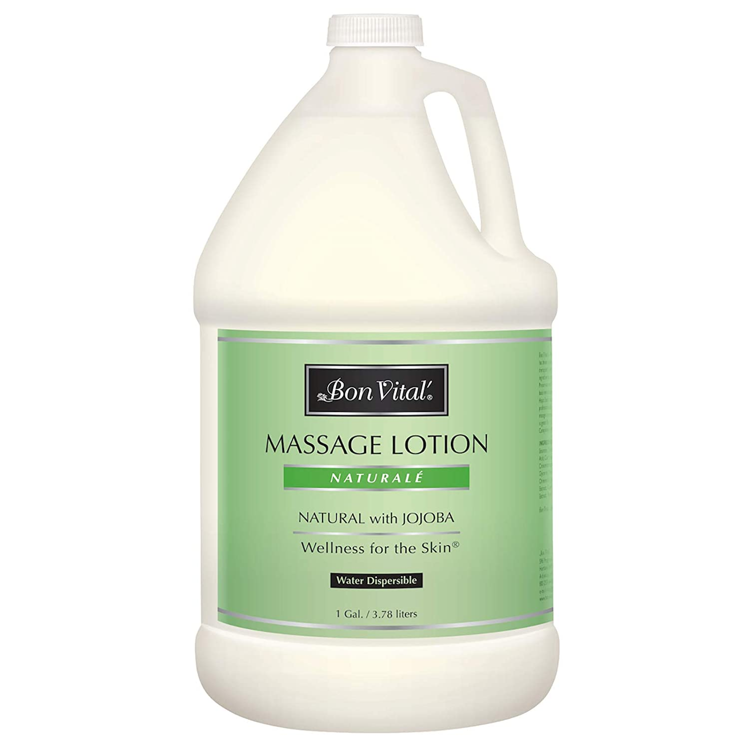 Bon Vital' Naturale Massage Lotion Made with Natural Ingredients for an Earth-Friendly & Relaxing Massage, All Natural Moisturizer, Relieves Muscle Soreness and Increases Circulation, 1 Gallon Bottle