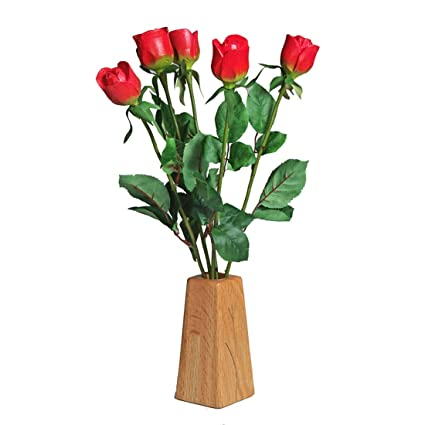 Amazon Justpaperroses 5th Wedding Wood Roses 5 Stem Bouquet And