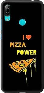 Stylizedd Huawei Y7 Prime (2019) Slim Snap Basic Case Cover Matte Finish - I Love Pizza (Black)