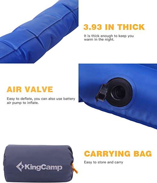 Amazon.com: Colchón de aire KingCamp individual o ...