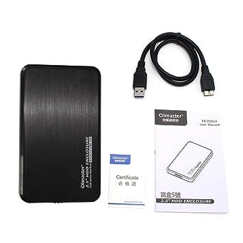 Zinniaya Olmaster EB-2506U3 Multifunción Sata USB 3.0 HDD Estuche ...