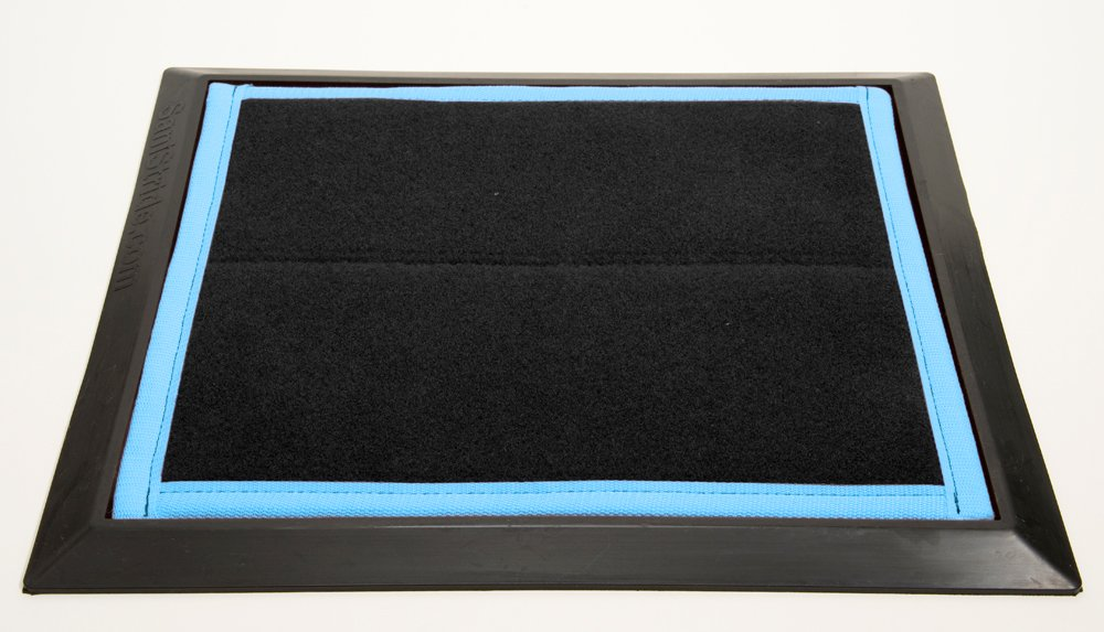Sanistride® Sports Mat Shoe Disinfectant Dispensing System - Rubber Base Mat with Proprietary Sanitizer Delivery Insert (1)