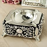SSBY European Alloy Ashtray Stainless Steel Creative Ashtray Home Living Room Office Desktop Displayc