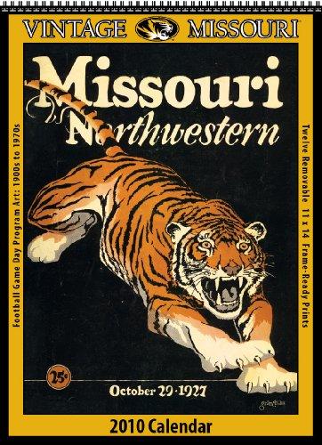 Vintage Missouri Tigers 2010 Football Program Calendar