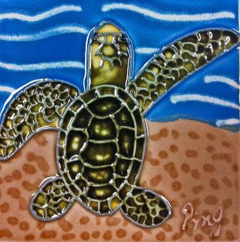 - Continental Art Center SD-112 4 by 4-Inch Sea Turtle No.2 Ceramic Art Tile