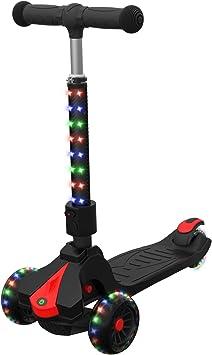 Amazon.com: Jetson Saturn Patinete plegable de 3 ruedas con ...