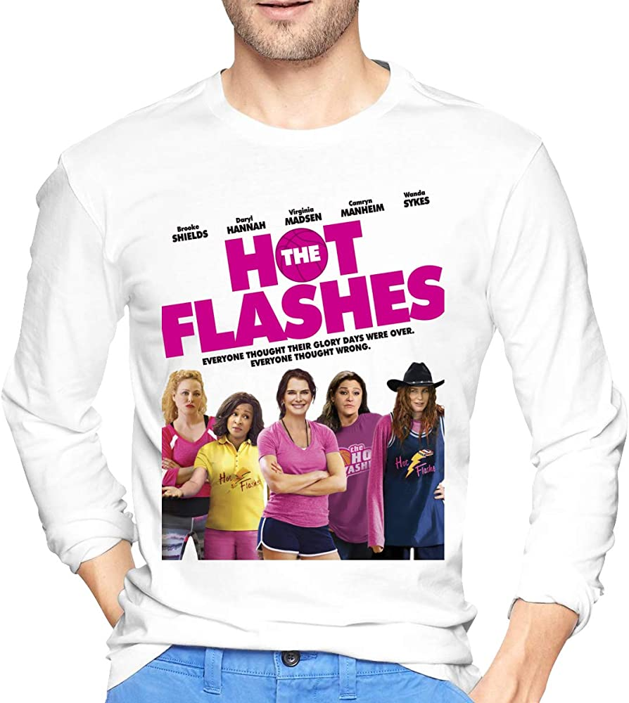 S Casual The Hot Flashes O Neck Sports Tops Shirts
