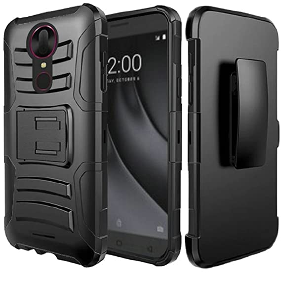 Coolpad Revvl Plus (T-Mobile) Case, HRWireless Dual Layer [Shock Absorbing]  Protection Hybrid Stand Hard Snap-in Holster Case Cover Compatible with