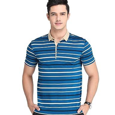 Camisa De Polo para Polo Manga Hombre Rayas Verano Corta Polo ...