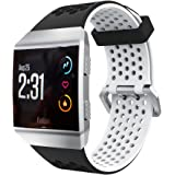 Tabcover for Fitbit Ionic Armband,Soft Silicone Sport Replacement Strap Armband for Fitbit Ionic Smart Watch