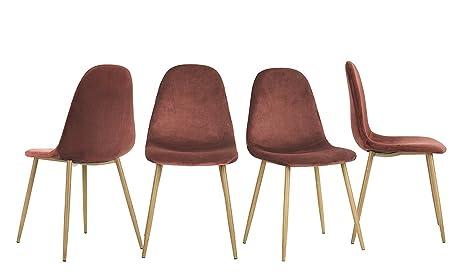 Ajie set di 4 sedie da cucina in legno eggree tm vintage faux