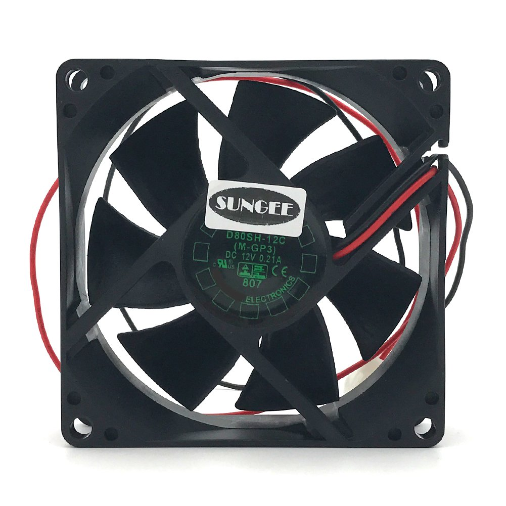 D80SH-12C 12V 0.21A 8020 8CM 2 wire power supply cabinet cooling fan