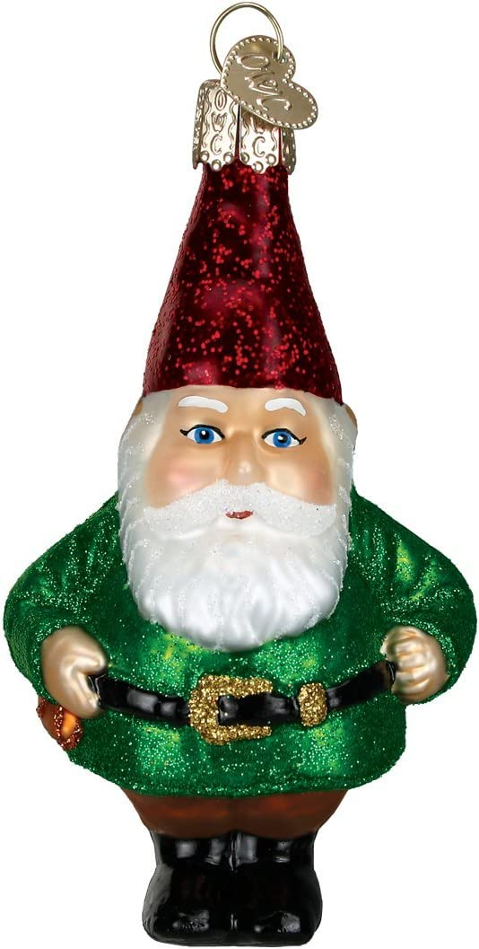 Old World Christmas Garden Gifts Glass Blown Ornaments for Christmas Tree Gnome