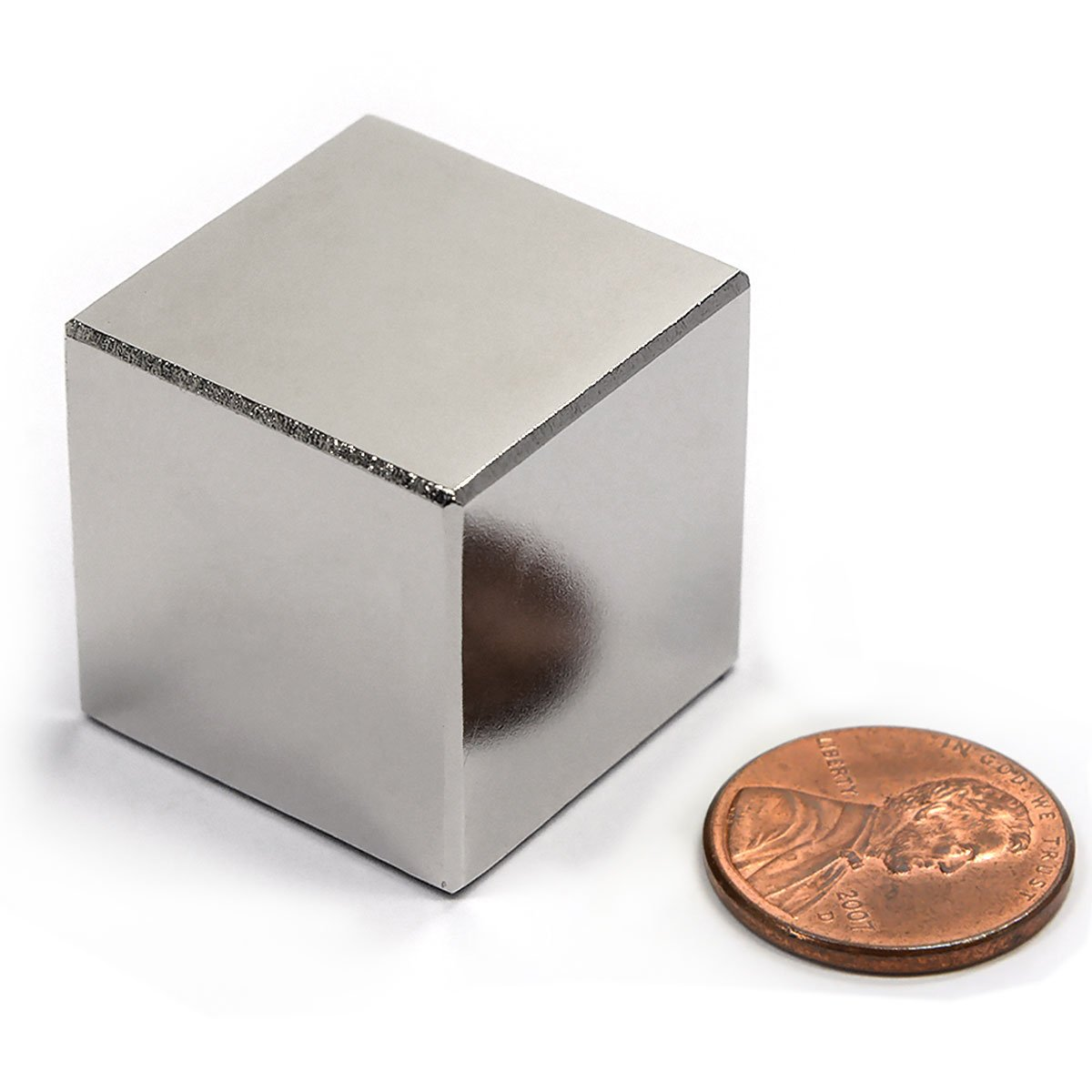 "CMS Magnetics® Neodymium Magnet N42 1"" Cube NdFeB Rare Earth Magnets 1-Count. Great for Stud Finder"