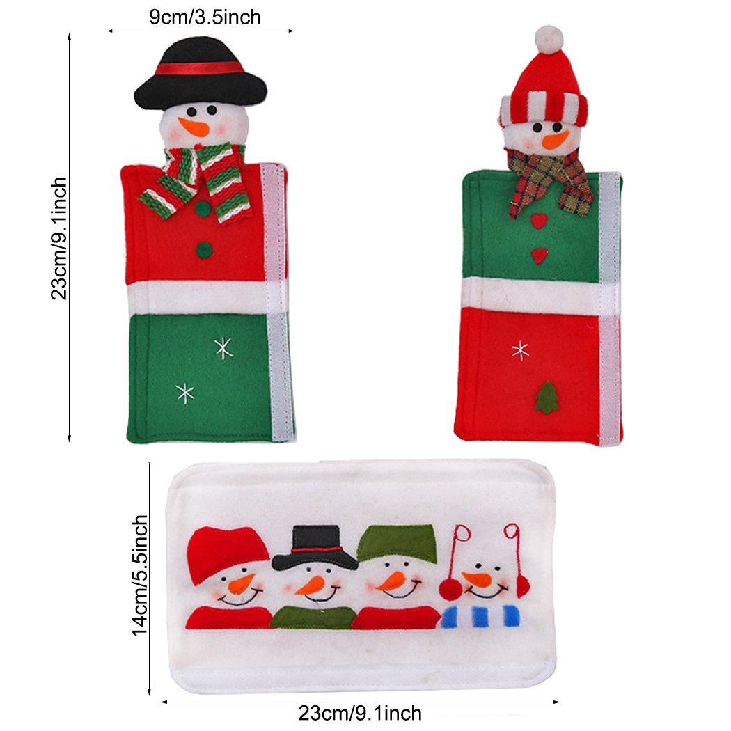 6pcs Decoración de Navidad muñeco de nieve mango de cocina aparato ...