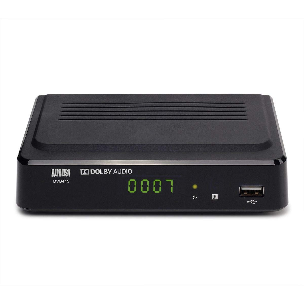- Boitier de r/éception DVB-T//DVB-T2 et Lecteur Multim/édia avec Sortie HDMI et Sortie Audio Num/érique Coaxial August DVB415 D/écodeur TNT HD MPEG4 // H.264 Enregistreur TV Num/érique via USB