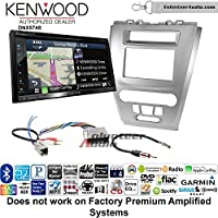 Volunteer Audio Kenwood DNX574S Double Din Radio Install Kit with GPS Navigation Apple CarPlay Android Auto Fits 2010-2012 Fusion (Silver) (Not for factory amplified systems)