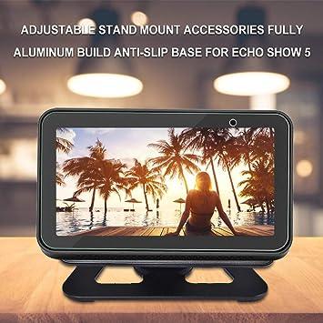 ReReamsky Compatible con  Echo Show 5 Difusor Base Protectora Antideslizante con Soporte de Aluminio Ajustable