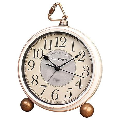 JZLBYZWM Retro Europeo Pastoral Reloj Despertador Creativo ...