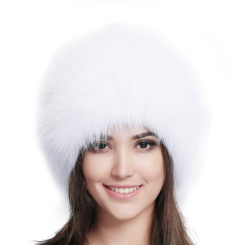 FURTALK Fox Fur Hat Winter Warm Russian Women Mongolian Hat