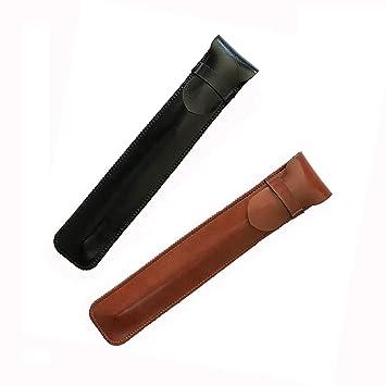 Shuxy Cuero Bolígrafo Caso Poseedor Hecho a mano Estuche para pluma estilográfica Estuche protector para Apple Pencil, Bolígrafo, Stylus Touch Pen - ...