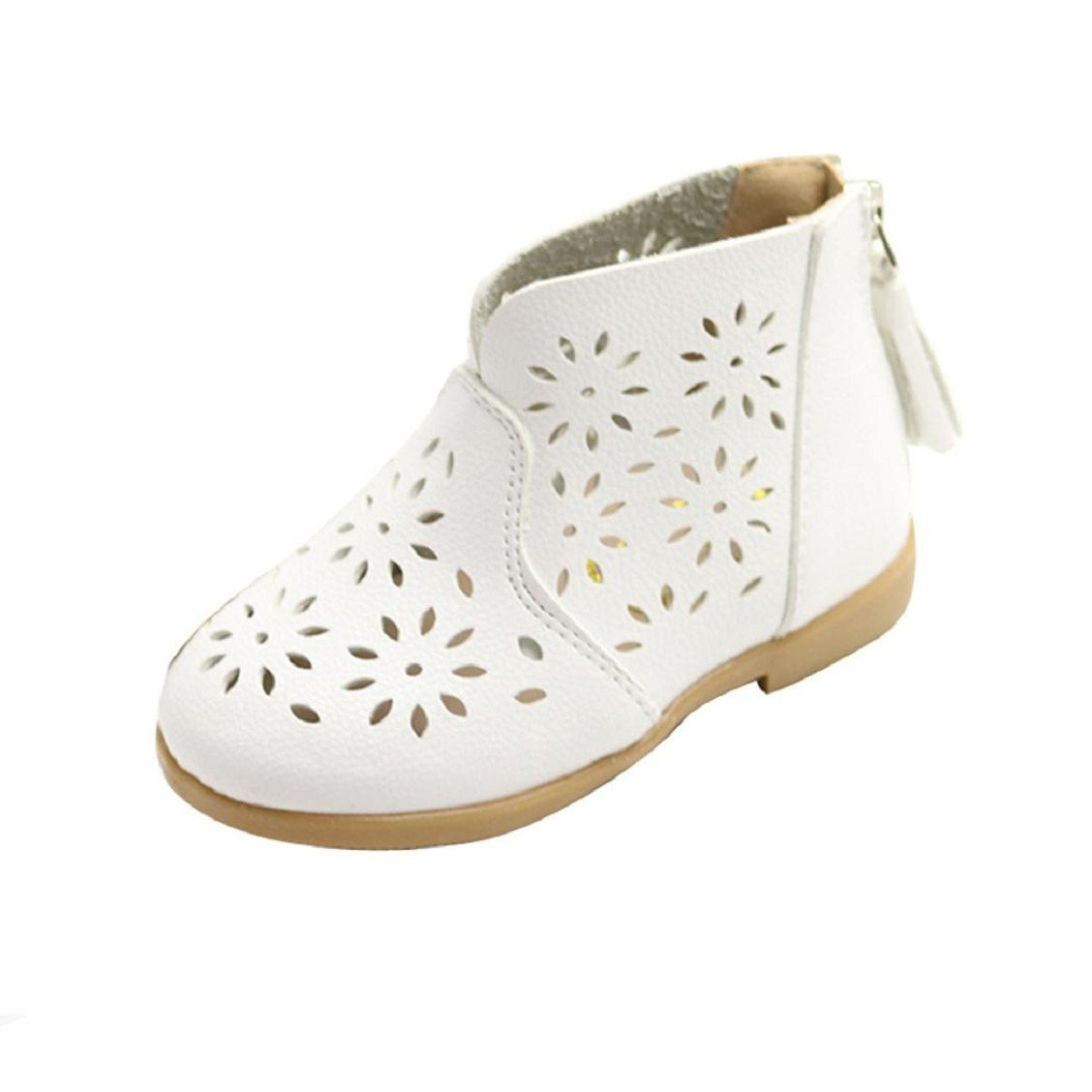 Naladoo Baby Girls Summer Breathable Tassel Sandals Kids Children Princess Boot Shoes (1 years old, White)