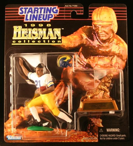 Starting Lineup DESMOND HOWARD / UNIVERSITY OF MICHIGAN WOLVERINES 1998 NCAA College Football HEISMAN COLLECTION Action Figure, Football Helmet & Miniature 1991 Heisman Memorial Trophy